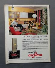 PUB PUBLICITE ANCIENNE ADVERT CLIPPING 230917 / CHAUFFAGE CENTRAL MAZOUT AIRFLAM