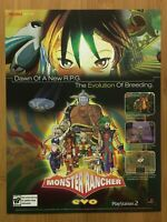 Monster Rancher Evo PS2 2006 Game Print Ad/Poster Official Promo Art Rare