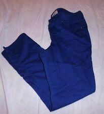 SO NICE JUNIORS 15 17 ROYAL BLUE SLIMMING STRAIGHT LEG JEANS STRETCH LOW WAIST