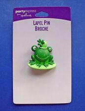 BUY1&GET1@50%~Hallmark PIN St Patrick MOC FROG Toad on LILY PAD Vtg Irish BROOCH