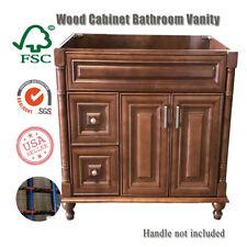 "Solid wood Bathroom Vanity New Maple Walnut SingleBase Cabinet 36"" W x 21"" D"