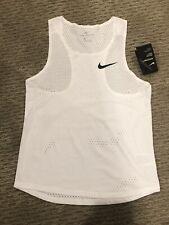 Nike Aeroswift Singlet - White - Men's Sm - Lightweight, Breathable, Sleek