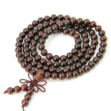 Pterocarpus santalinus Wood Tibet Buddhist 108 Prayer Beads Mala Necklace--6mm