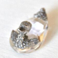 Porte-couteau en métal argenté et en cristal - SCULPTURE canard FIGURINE oiseau