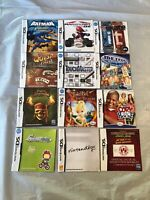Nintendo DS Video Game Manuals Lot Of 12 (LOT 1)