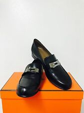 Hermes woman brans new black loafer size 35.5