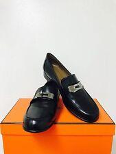 Hermes woman brans new black loafer size 35.5