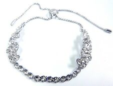 Retired Garden Crystal Bracelet, White - Adjustable Swarovski Jewelry #5266489