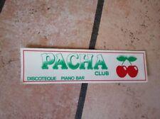 adesivo sticker anni 80 discoteca PACHA club BENIDORM alicante SPAGNA