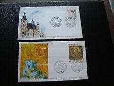 FRANCE - 2 enveloppes 1er jour 2000 (nevers/mosaique carolingien) (cy70) french