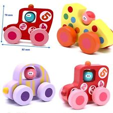 Educational Toys Toddler Toy Wooden Car Set 3 Piece 2-4 Year Old Girl Boy Kids