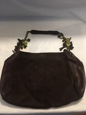 Brown Leather & Suede Handbag * MADE IN ITALY BY BERGE * Pocketbook Shoulder Bag