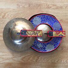 """TIBETAN RITUAL CYMBAL ROL MO SET BUDDHIST TEMPLE CYMBAL 12"""" ROLMO"""