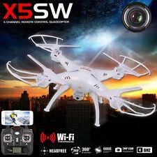 White Syma X5SW Explorers-II FPV 2.4Ghz 50M RC Drone Quadcopter 2MP Wifi Camera
