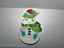 New Pier 1 Imports Whimsical Colorful Snowman Spoon Rest