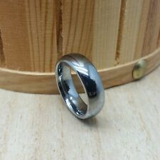 6mm wide Tungsten Carbide Ring Classic Domed Design