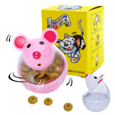 Interactive Cat Snack Toy Mouse Shaped Food Treat Dispenser Ball Games Play Toys