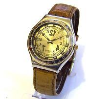 SWATCH Irony Armbanduhr silber Edelstahl Herren Uhr HAU TOP rar 1993 Datum Stahl