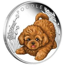 Tuvalu - 50 centavos 2018-caniche-cachorros (5.) - 1/2 Oz plata pp