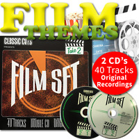Film Music Original Scores and Songs Double CD Inc Alien ET and The Italian Job