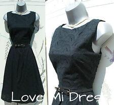 Magnifique années 50 style broderie anglaise swing jive jour/tea dress 10 EU38