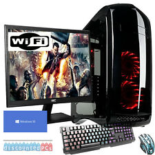 SIX CORE Desktop Gaming PC Computer Bundle 4.0GHz 16GB 2TB Windows 10 GTX 1060