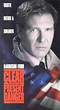 NEW VHS Clear and Present Danger: Harrison Ford James Earl Jones Willem Dafoe
