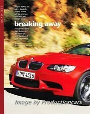 2008 BMW M3 Road Test Original Car Review Print Article J710