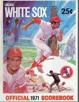 1971 (Sep. 7) Baseball program Minnesota Twins @ Chicago White Sox, unscored ~VG