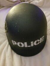 Vintage Police Armor Helmet. Helmet Ground Troops Parachutist M3.W/Bullet Hole