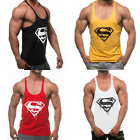 Gym Men Tank Top Bodybuilding Stringer Singlet fitness Sport training Undershirt