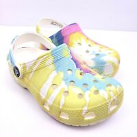 Crocs Classic Tie Dye Graphic Toddler Kids Size 12 Clog Sandals 205451-94S