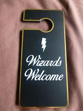 Harry Potter Wooden Door Hanger Wizards Welcome