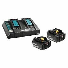 MAKITA BL1850B2DC2 NEW 18V BL1850B Li-Ion Battery & DC18RD Dual Port Charger