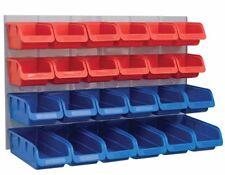 Faithfull FAIPAN24 24 Parts Wall Storage Plastic Box Bins Tray + Mounting Panel