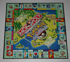 Monopoly POKEMON Gotta Catch em all Hasbro 1999 Game Board Only replacement