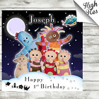 IN THE NIGHT GARDEN EDIBLE SQUARE BIRTHDAY CAKE TOPPER DECORATION PERSONALISED