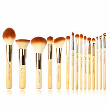 Jessup New 15pcs Bamboo Makeup Brush Set Cosmetic Brushes Kit Make up Tools T140