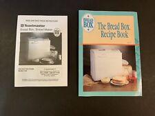 Oem Toastmaster Bread Maker Machine 1195 Operator Instruction Manual & Recipes