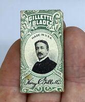 Vintage Paper Wrapped Double Edge King Gillette Razor Blade #YIMFaa