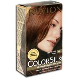 Revlon Colorsilk Haircolor #55 Light Red Brown (Pack of 6)