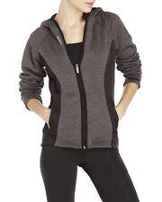 Reebok Women's Black Gray Full Zip Slim Trailblazer Hoodie Jacket XS