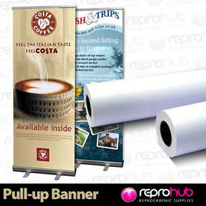 1 Roll Pull Up / Roller Banner Exhibition Display Media 220 micron 1067mm x 30m