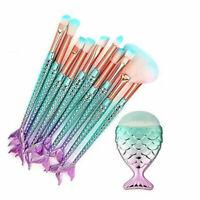 11 Pcs/Set Portable Makeup Face Blusher Brush Eye Blending Eyeshadow Brushes
