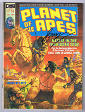 Planet of the Apes #2 Magazine Vf Signed w/Coa By Gerry Conway 1974 Curtis Pwc