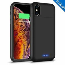 iPhone Xs Max Battery Case 6200mAh, Gasopic Extended Slim Rechargeable Charger C