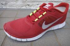 Nike Freerun+3 5.0 Gym Red Silver Platinum Volt 510642-600 Mens Size 10 NEW!