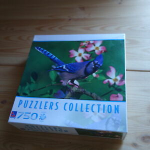 SURE-LOX PUZZLERS COLLECTION Blue Jay 750 Piece JIGSAW PUZZLE Animal Bird New