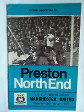 1971/72 Preston North End V Manchester United FA CUP 4th RD