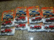8 LOT MATCHBOX #32 CLEVELAND FIRE TRUCK & #91 FORD DUMP UTILITY CHASE 2000 LOGOS